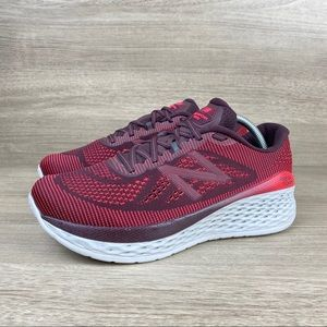 New Balance Fresh Foam More Burgundy Running Shoes